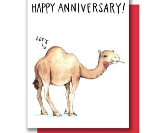 Happy Anniversary Let's Hump Camel Card