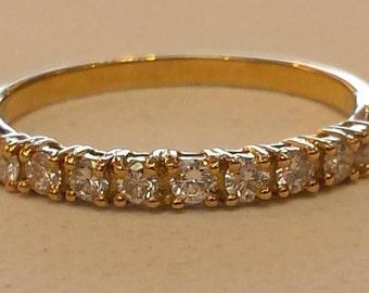 18 K white gold diamond wedding band