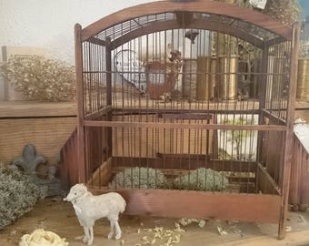 Antique French bird cage for home decor