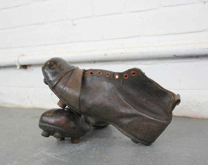 Leather Football Boots Circa 1920s