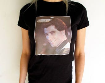 Vintage Saturday Night Fever Tee / John Travolta / Disco Shirt