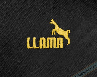 Llama - Puma Parody - Funny Polo Shirt