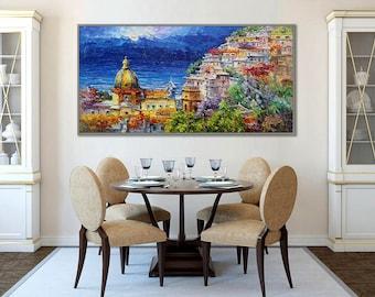 "Amalfi Coast Positano  62x31"" / 160x80cm"