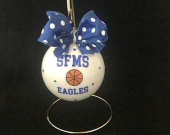 Christmas ornament for basketball players, girls basketball, boys basketball, basketball coaches, basketball moms, team mom, basketball gift