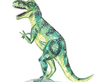 T-Rex Illustration | A5 Print
