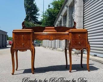 AVAILABLE BIG Vanity, Desk, Dressing Table, Dresser, Secretary, Ladies Desk, Antique Vanity, Makeup Vanity