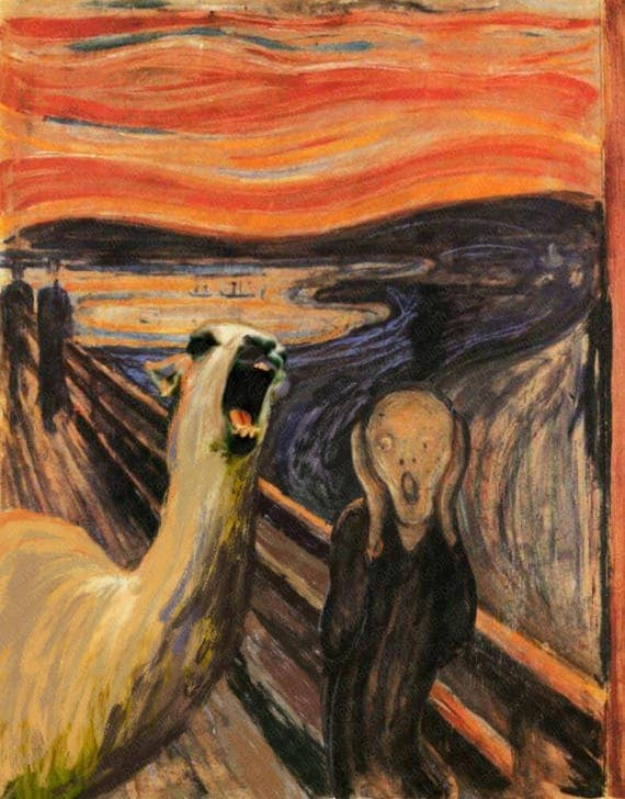 Famous Painting Of Screaming Woman
