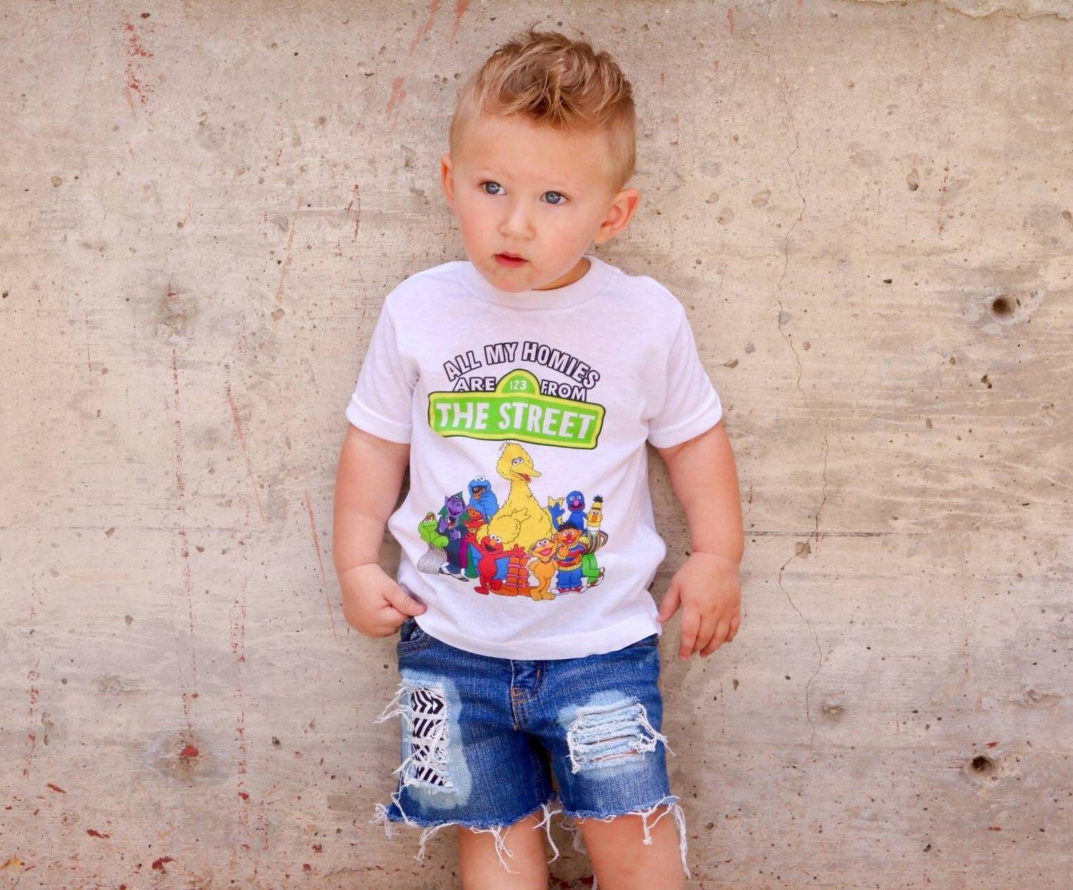 Sesame Street Shirt Funny baby tee Trendy boy shirts All My