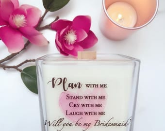 Set of 6 Bridesmaid Proposal Candles~Bridesmaid Gifts~Bridesmaid Proposal~Bridesmaid Boxes~Will you Be My Bridesmaid? Maid of Honor Gifts
