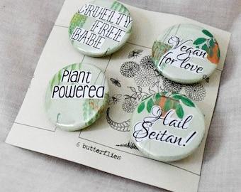 Vegan plant pins | Set of four