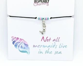 Mermaid bracelet, Mermaid Jewellery, Little Mermaid, Mermaid party favours, wish bracelet, Friendship bracelet, Hen party, hen party bag