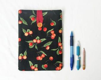 Ipad mini 4 cover, black cherry fabric, fabric tablet sleeve, IPad mini 4 case, padded tablet sleeve, ipad mini cozy, handmade in the UK