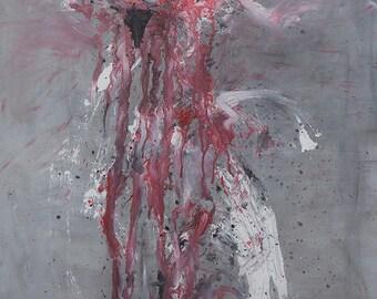 Hell Hath No Fury... Mixed Media Giclee Print