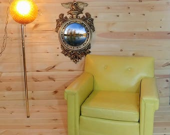 Vintage Turner Wall Accessory Convex Fisheye Eagle Mirror 4380