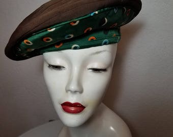 FREE  SHIPPING    Vintage 1940  Halo  Hat