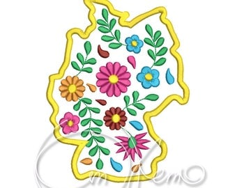 MACHINE EMBROIDERY DESIGN - Germany, Mexican design, Calavera, Dia de los muertos, Day of the dead