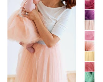 mommy and me tulle skirt set, mother's day set, mother and daughter skirt, matching skirt set, mommy and me clothing, glam skirt set outfit