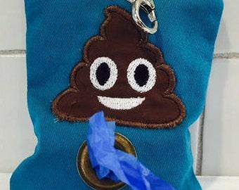Dog poop bag dispenser-poop emoji-poop bag holder-new dog gift-stocking stuffer-dog lover gift-funny dog gift