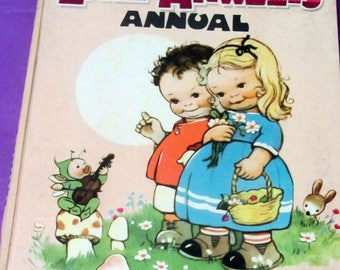 Lucie Attwell's Annual, 1962 children's story book, Dean & Son book, Children's vintage story book
