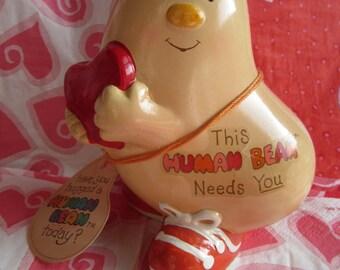 1981 Enesco Human Bean with Heart Figure