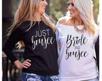 Bride and Boujee, Just Boujee, Bad and Boozy, Bachelorette Party Shirt, S-2XL, Bad and Boozy Shirt, Bride and Boujee Shirt