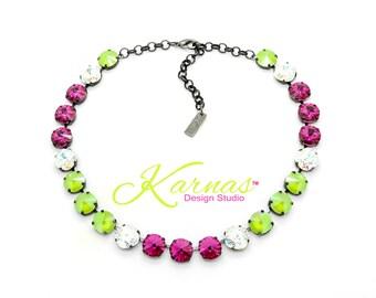 LIPSTICK ON LOLLIPOPS 2018 Spring/Summer 12mm Necklace Genuine Swarovski Crystal *Choose Your Finish *Karnas Design Studio™ *Free Shipping*