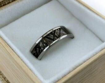 Meteorite Ring, Space Ring, Astronaut Ring, Meteorite Rock Ring, Asteroid Ring, Men's Wedding Band, Women's Wedding Band, Engagement Ring