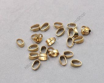 9mm 100Pcs Raw Brass Bails GY-S071407-GZ-28