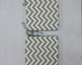 FLOOR SAMPLE CLEARANCE Chair Cushions Gray And White Chevron Stripes, Rustic  Chair Pad, Stool