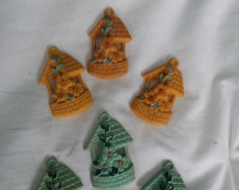 Vintage Curtain Charms Set of 6