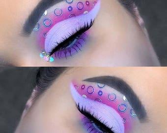 Water Bubbles | Loose Glitter | 15 mL Pot | Best Body Glitter For Dance Festivals | Iridescent Circle Body Glitter | Great For Mermaid Looks