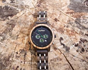 FREE Engraving, Womens Wood Watch, Wood Watch, Wooden Watch, Chronograph Watch, Womens Wooden Watch, Personalized Watch, Womens Watch