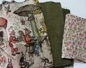 RESERVED for Helen Fairytale Vest Woodland Fairytale Mori Girl Clothing, Jacket  Vintage Landscape Gobelin Fabric