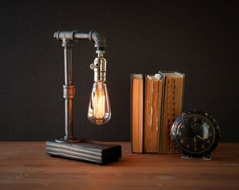 Industrial lamps pipe lighting bookend by urbanindustrialcraft - Lampe de chevet applique ...