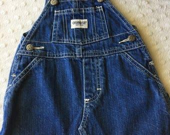 Retro baby girls OSHKOSH denim skirt overalls/dungarees. Size 6-12 months.