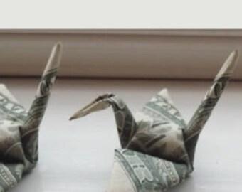 Origami Money Crane