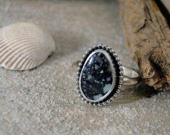 New Lander Turquoise Ring, Genuine Turquoise, Rare Turquoise, Turquoise Ring, New Lander Turquoise, Mermaid Ring, Sterling Silver, Size 7.25