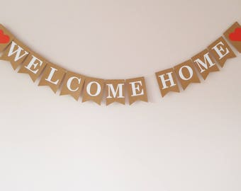 Welcome home bunting banner