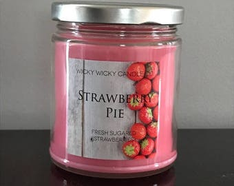Strawberry Pie Hand Poured Soy Candle