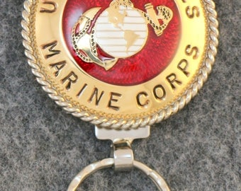 IN STOCK - Unless personalized - Metal Key Chain - Metal United States Marine Corps Key Chain  - A one of a kind gift for your Marine!