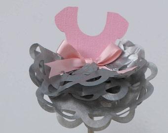 Ballerina Tutu Cupcake Topper- 12