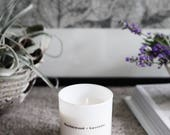 Sandalwood and Lavender Candle, hand poured soy wax candle, home decor, gift, vegan
