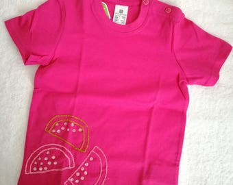 Fucsia t-shirt with paillettes watermelon