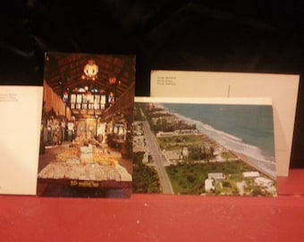 Set of 2 VTG 50s Destination postcards Chattanooga and Palm Beach