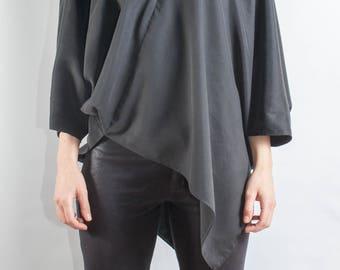 black tunic/ modern tunic/ oversized tunic/ casual tunic