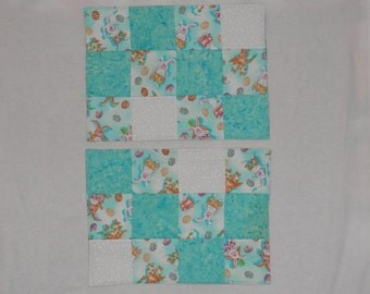Two Cute Easter/ Spring Placemats. Sold as a Pair. Free Shipping