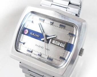 Retro All Original RADO NCC 101 SPACE-Age Automatic Vintage Watch