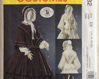 McCall's Pattern 5132 - Civil War Era Costume - Peplum Tops, Under Sleeves & Tiered Skirt  - Sizes 14-20 UNCUT