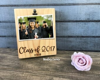 Graduation gift, Graduation picture frame, Class of 2017 gifts, Graduation photo frame, Graduation frame, Gift for graduation, Wood frame