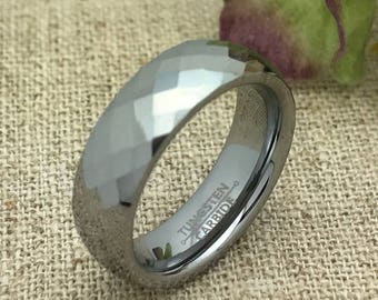 6mm Personalized Tungsten Wedding Band, Custom Engraved Ring, Personalized Ring, Wedding Ring, Tungsten Ring, Promise Ring, Couples Ring